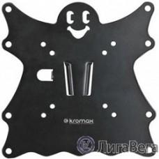 Kromax CASPER-200 black,  Кр. стал. наст. для TV 15″-40″, max 30 кг, 0 ст св., от ст. 21 мм, max VESA 200x200 мм.