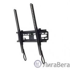 Kromax FLAT-4 new black, наст. для TV 22″-65″, max 55 кг, 1 ст св., нак. +3°-10°, от ст. 42 мм, max VESA 400x400 мм.