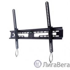 Kromax FLAT-2 new black, наст. для TV 32″-90″, max 65 кг, 1 ст св., нак. +3°-10°, от ст. 42 мм, max VESA 600x400 мм.