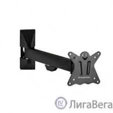 Kromax CASPER-103 black, Кр. стал. наст. для TV 10″-32″, max 25 кг, 4 ст св., нак. +5°-15°, пов. 180°, от ст. 57-307 мм, max VESA 100x100 мм.