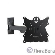 Kromax CASPER-203 black, Кр. стал. наст. для TV 20″-43″, max 30 кг, 4 ст св., нак. +5°-15°, пов. 90°, от ст. 57-307 мм, max VESA 200x200 мм.