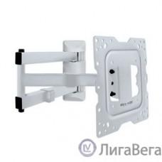 Kromax DIX-18 white, Кр. стал. наст. для TV 22″-65″, max 40 кг, 5 ст св., нак. ±15°, пов. 180°, от ст. 66-605 мм, max VESA 400x400 мм.