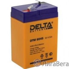 Delta DTM 6045 (4.5 А\ч, 6В) свинцово- кислотный аккумулятор