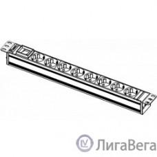 ЦМО Блок розеток Rem-10 без шнура с выкл., 8 Schuko, вход IEC 60320 C14, 10A, алюм., 19″ (R-10-8S-V-440-Z)