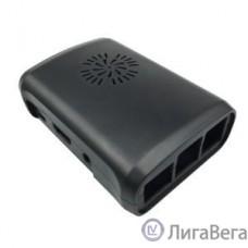 Корпус с вентилятором и радиаторами для Raspberry Pi 3 model B / Raspberry Pi 2 model B / Raspberry Pi model B+ (овальный, цвет черный) (42459)