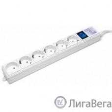 PowerCube Фильтр-удлинитель (SPG(5+1)-16B-0,5M) 6 розеток, 0,5 м,16А/3,5кВт, белый