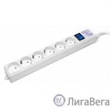 PowerCube Фильтр-удлинитель (SPG(5+1)-16B-5M) 6 розеток, 5м,16А/3,5кВт, белый