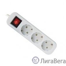Defender Удлинитель S330 3.0 м, 3 розетки [99234] выключатель, с заземлением