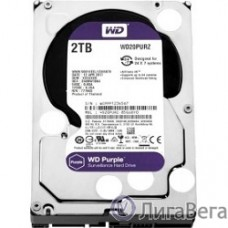 2TB WD Purple (WD20PURZ) {Serial ATA III, 5400- rpm, 64Mb, 3.5″}