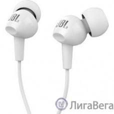 JBL C100SIUWHT наушники вкладыши,  белый, проводные Mini jack 3.5 mm
