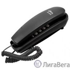 RITMIX RT-005 black {проводной телефон, повторный набор номера, настенная установка, кнопка выключения микрофона, регулятор громкости звонка}