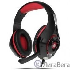 CROWN CMGH-101T Black&red (Подключение jack 3.5мм 4pin+ адаптер 2*jack spk+mic,Частотныи? диапазон: 20Гц-20,000 Гц ,Кабель 2.1м,Размер D 250мм, регулировка громкости, микрофон на ножке)