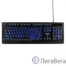 Гарнизон Клавиатура игровая GK-310G черный USB, металл, синяя подсветка, код ″Survarium″, антифант