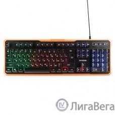 Гарнизон Клавиатура игровая GK-320G черный USB, подсветка, код ″Survarium″, антифантомные клавиш