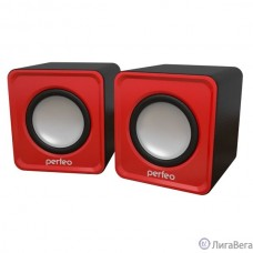 Perfeo колонки ″WAVE″ 2.0, мощность 2х3Вт (RMS), красный, USB [PF-128-R]