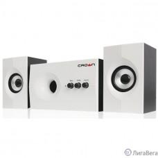 Акустическая система 2.1 CROWN CMS-350 ( Белая лицевая панель; МДФ, 15W+10WX 2=35W,Длина кабеля питания и аудио кабеля 2м;,Управление: питание, громкость, басс, высокие частоты.)