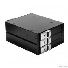 Exegate EX264639RUS Корзина для HDD Exegate HS335-01 (универсальная, на 3*3,5″ SATA/SAS HDD, занимает 2*5,25″ отсека)