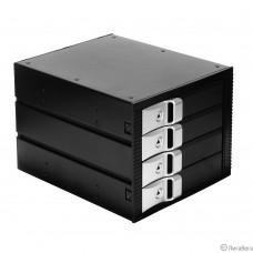 Exegate EX264645RUS Корзина для HDD Exegate HS435-01 (универсальная, на 4*3,5″ SATA/SAS HDD, занимает 3*5,25″ отсека)