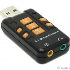 ORIENT AU-01PL (Bl)  USB адаптер для микрофона и наушников комбинированная расцветка (Черный)