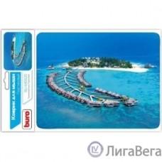 Коврик для мыши Buro BU-M10020 рисунок/тропический отель [291841]