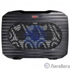 BURO Подставка для ноутбука 15.6″357x265x33mm 1xUSB 1x 140mmFAN 345г металлическая сетка/пластик черный (BU-LCP156-B114)