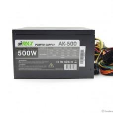 AirMax AK-500W Блок питания 500W ATX (24+4+6пин, 120mm (SCP)\(OVP)\(OCP)\(UVP)\ATX 12V v.2.3)
