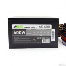 AirMax AK-600W Блок питания 600W ATX (24+4+6пин, 120mm (SCP)\(OVP)\(OCP)\(UVP)\ATX 12V v.2.3)