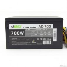 AirMax AK-700W Блок питания 700W ATX (24+4+6пин, 120mm (SCP)\(OVP)\(OCP)\(UVP)\ATX 12V v.2.3)