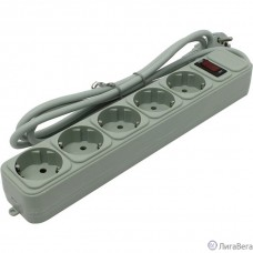 Exegate EX266862RUS Сетевой фильтр Exegate SP-5-1.5G (5 розеток, 1.5м, евровилка, светло-серый)