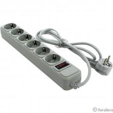 Exegate EX266865RUS Сетевой фильтр Exegate SP-6-1.5G (6 розеток, 1.5м, евровилка, светло-серый)