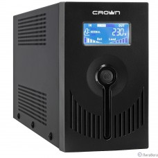 CROWN ИБП  CMU-SP650EURO LCD USB {650VA, металл, 1x12V/7AH, розетки 2*EURO} [CM000001870]