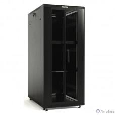 Hyperline TTB-4261-DD-RAL9004 Шкаф напольный 19-дюймовый, 42U, 2055x 600х1000мм (ВхШхГ), передняя и задняя распашные перфорированные двери (75%), ручка с замком, крыша нового типа, цвет черный (RAL 90
