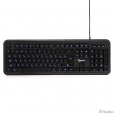 Клавиатура Gembird KB-200L черный  USB {104 клавиши, подсветка белая, кабель 1.45м}