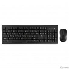 Комплект кл-ра+мышь беспров. Gembird KBS-8002 {2.4ГГц, черный, 104 клавиши+2 кнопки+колесо кнопка, 1000DPI, батарейки в комплекте}