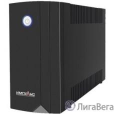 Импульс ИБП Юниор 650 {650 ВА/360 Вт, LED, АКБ 1х5Ач, IEC-C13x4},черный {00-КБ001548}