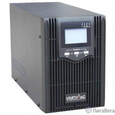 Импульс ИБП Юниор ПРО 1000 {1000 ВА/800 Вт, LCD, USB, RJ-45/RJ-11, слот для SNMP, АКБ 2х7Ач, IEC-C13 + SCHUKOx2},черный {00-КБ002710}