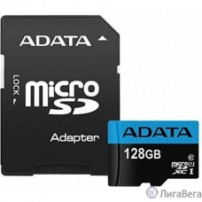 Micro SecureDigital 128Gb A-DATA AUSDX128GUICL10A1-RA1 {MicroSDXC Class 10 UHS-I, SD adapter}