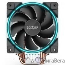 PCCooler GI-X5B Кулер GI-X5B S775/115X/AM2/AM3/AM4 (24 шт/кор, TDP 160W, вент-р 120мм с PWM, Blue LED FAN, 5 тепловых трубок 6мм, 1000-1800RPM, 26.5dBa)