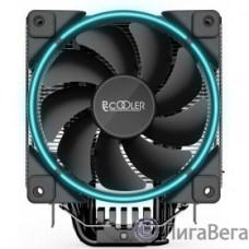 PCCooler GI-X6B Кулер GI-X6B S775/115X/AM2/AM3/AM4 (24 шт/кор, TDP 160W, вент-р 120мм с PWM, Blue LED FAN, 5 тепловых трубок 6мм, 1000-1800RPM, 26.5dBa)