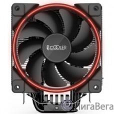 PCCooler GI-X6R Кулер GI-X6R S775/115X/AM2/AM3/AM4 (24 шт/кор, TDP 160W, вент-р 120мм с PWM, Red LED FAN, 5 тепловых трубок 6мм, 1000-1800RPM, 26.5dBa)