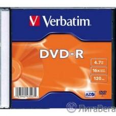 Verbatim  Диски DVD-R Verbatim 16-x, 4.7 Gb, (уп 20 шт) (43547)