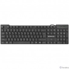 Defender Element HB-190 USB RU [45190] {Клавиатура проводная },черный,полноразмерная