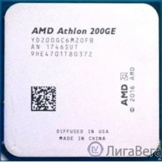 CPU AMD Athlon 200GE AM4 {3.2 GHz/2core/1+4Mb/SVGA RADEON Vega 3/35W/Socket AM4} (OEM)