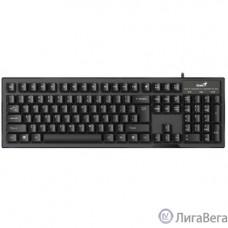 Genius Smart KB-102 Black {классическая расскладная, SmartGenius, влагоустойчивая, клавишь 105, провод 1,5 м, USB} [31300007402]