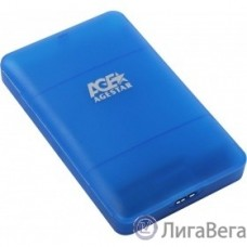 AgeStar 3UBCP3 (BLUE) USB 3.0 Внешний корпус 2.5″ SATAIII HDD/SSD USB 3.0, пластик, синий, безвинтовая конструкция