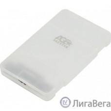 AgeStar 3UBCP3 (WHITE) USB 3.0 Внешний корпус 2.5″ SATAIII HDD/SSD USB 3.0, пластик, белый, безвинтовая конструкция