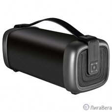 Ginzzu GM-878B (15Вт, 100Гц-20КГц, 3000мАч, AUX, microSD, USB-flash, FM-радио, Subwoofer, Эквалайзер, Защита от брызг, Ремень для переноски)