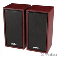Perfeo колонки ″CABINET″ 2.0, мощность 2х3 Вт (RMS), махагон, USB