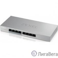 ZYXEL GS1200-8HPV2-EU0101F Коммутатор 8xGE (4xPoE+), настольный, бесшумный (без вентилятора), с поддержкой VLAN, IGMP, QoS и Link Aggregation, бюджет PoE 60 Вт