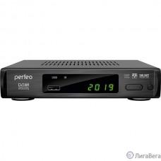 Perfeo DVB-T2/C приставка ″LEADER″ для цифр.TV, Wi-Fi, IPTV, HDMI, 2 USB, DolbyDigital, пульт ДУ [PF_A4412]